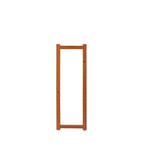 【まとめ買い10個セット品】 アルテン サイドフレーム ブラウン H120cm【店舗什器 パネル ディスプレー 棚 ハンガー 店舗備品】