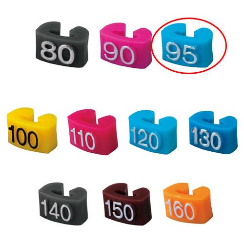 【まとめ買い10個セット品】 サイズチップ 子供用 95 空 150個【店舗什器 小物 ディスプレー ハンガーチップ サイズチップ 店舗備品】