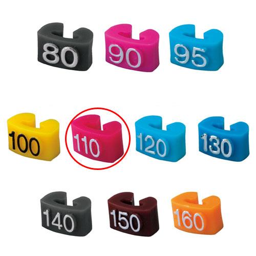 【まとめ買い10個セット品】 サイズチップ 子供用 110 赤 150個【店舗什器 小物 ディスプレー ハンガーチップ サイズチップ 店舗備品】