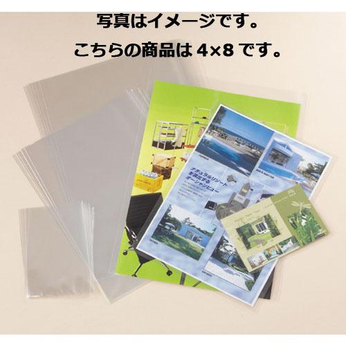 【まとめ買い10個セット品】 透明袋 4×8cm 1000枚【 ラッピング用品 包装 ラッピング袋 透明袋 シースルー 内袋 消耗品 業務用 】