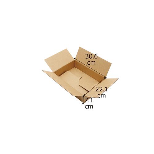 【まとめ買い10個セット品】 ワンタッチダンボール 宅配サイズ 30.6×22.1×7.1cm 20枚【店舗什器 小物 ディスプレー ギフト ラッピング 包装紙 袋 消耗品 店舗備品】