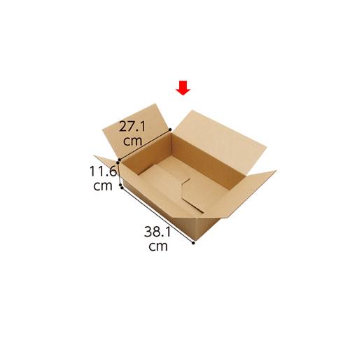 【まとめ買い10個セット品】 ワンタッチダンボール 宅配サイズ 38.1×27.1×11.6cm 20枚【店舗什器 小物 ディスプレー ギフト ラッピング 包装紙 袋 消耗品 店舗備品】
