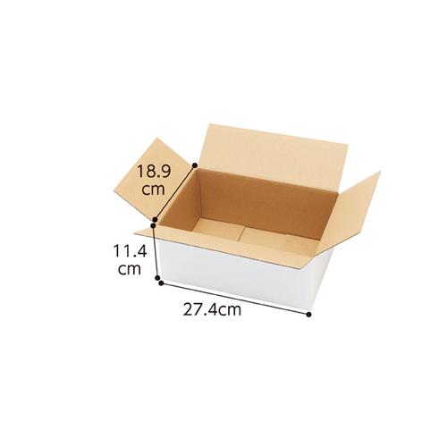 【まとめ買い10個セット品】 白ダンボール 宅配サイズ 27.4×18.9×11.4cm 20枚【店舗什器 小物 ディスプレー ギフト ラッピング 包装紙 袋 消耗品 店舗備品】