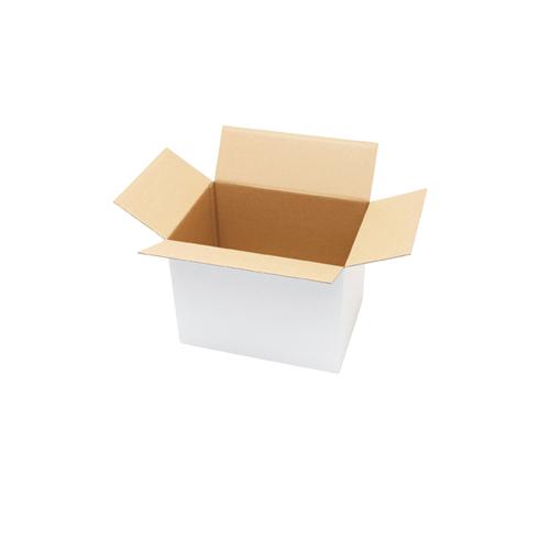 【まとめ買い10個セット品】 白ダンボール 宅配サイズ 31.4×22.4×23.4cm 20枚【店舗什器 小物 ディスプレー ギフト ラッピング 包装紙 袋 消耗品 店舗備品】