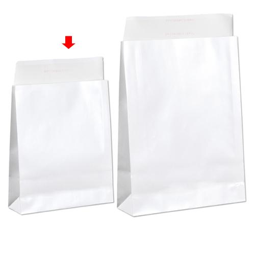 【まとめ買い10個セット品】 宅配袋 ホワイト ラミネートあり 小 200枚【店舗什器 小物 ディスプレー ギフト ラッピング 包装紙 袋 消耗品 店舗備品】