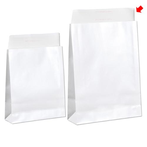 【まとめ買い10個セット品】 宅配袋 ホワイト ラミネートあり 大 200枚【店舗什器 小物 ディスプレー ギフト ラッピング 包装紙 袋 消耗品 店舗備品】