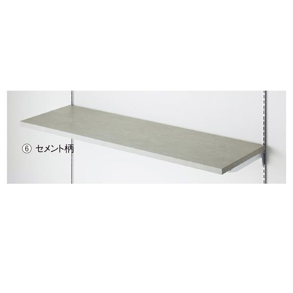 【まとめ買い10個セット品】 木棚W120×D35cm セメント柄 【メイチョー】