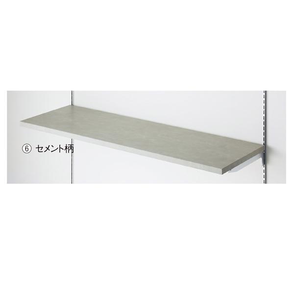 【まとめ買い10個セット品】 木棚W90×D30cm セメント柄 【メイチョー】