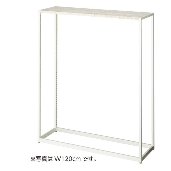 【まとめ買い10個セット品】 LR4中央片面ホワイト本体 W90×H150アルテンホワイト 天板セット 【メイチョー】