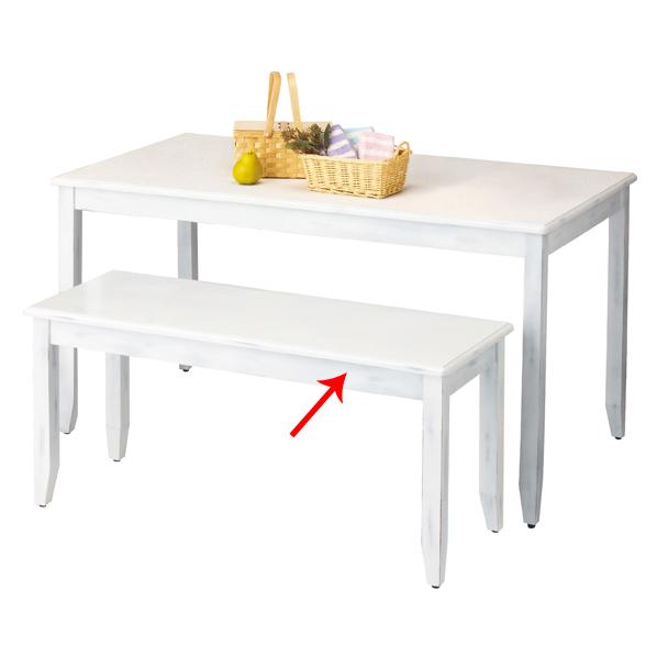 【まとめ買い10個セット品】 ナチュリアテーブル W120×D45×H55cm ホワイト 【メイチョー】
