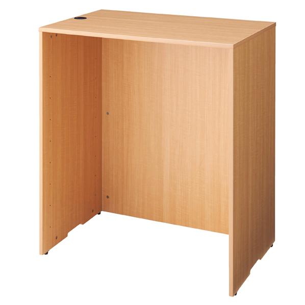 【まとめ買い10個セット品】 木製カウンターH100cm W90cm エクリュ 【メイチョー】