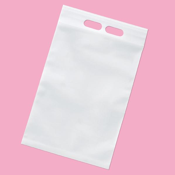 【まとめ買い10個セット品】 ユニハンディ チャック付き 乳白 28×45cm 50枚 28×45(40)cm 50枚 【メイチョー】