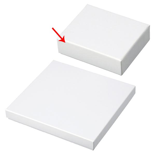 【まとめ買い10個セット品】 フェザーケース ホワイト 8.8×7.2×2.7cm 12個 【メイチョー】