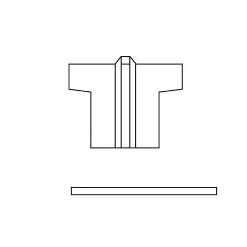 【まとめ買い10個セット品】 祭ハッピ L青〔市松T〕【 販促用品 イベント用品 プロモーション 広告 セール 店頭 訴求 サービス 業務用 】