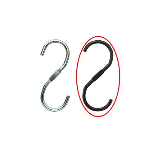 スチール製ディスプレー用フック ブラック 5個【店舗什器 パネル ディスプレー ハンガー 棚 店舗備品】