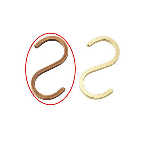 【まとめ買い10個セット品】 スチール製ディスプレー用フック スクエアタイプ アンティークゴールド 5個【店舗什器 パネル ディスプレー ハンガー 棚 店舗備品】