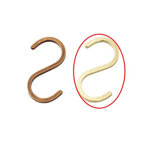 【まとめ買い10個セット品】 スチール製ディスプレー用フック スクエアタイプ ゴールド 5個【店舗什器 パネル ディスプレー ハンガー 棚 店舗備品】