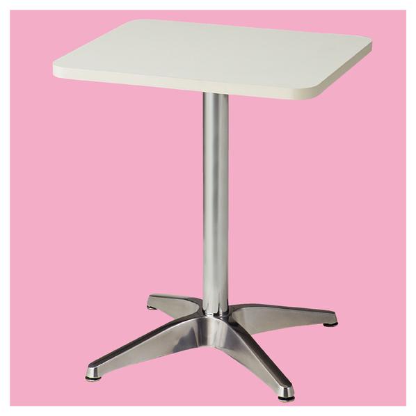 カフェテーブル 角型 W50×D60cm ホワイト 4台 【メイチョー】