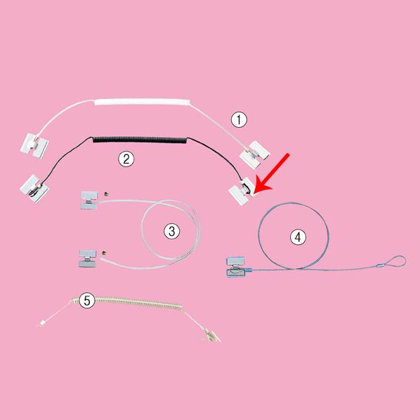 【まとめ買い10個セット品】 防犯ストラップ カールコード ブラック 5本 【メイチョー】