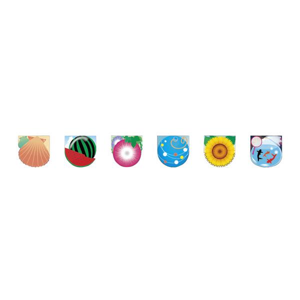 【まとめ買い10個セット品】 ユニークカットフラグ6連 サマー 1本 【メイチョー】