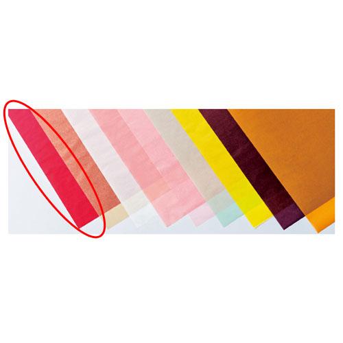 【まとめ買い10個セット品】 カラーワックスペーパー レッド 50枚【店舗備品 包装紙 ラッピング 袋 ディスプレー店舗】