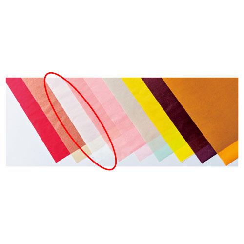 【まとめ買い10個セット品】 カラーワックスペーパー ホワイト 50枚【店舗備品 包装紙 ラッピング 袋 ディスプレー店舗】