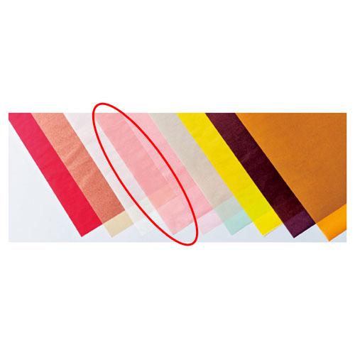 【まとめ買い10個セット品】 カラーワックスペーパー ピーチ 50枚【店舗備品 包装紙 ラッピング 袋 ディスプレー店舗】