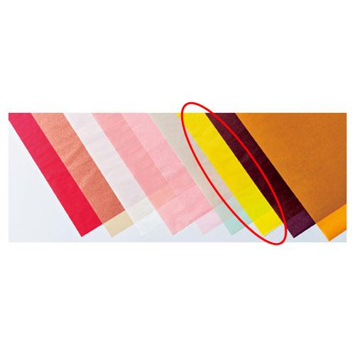 【まとめ買い10個セット品】 カラーワックスペーパー イエロー 50枚【店舗備品 包装紙 ラッピング 袋 ディスプレー店舗】