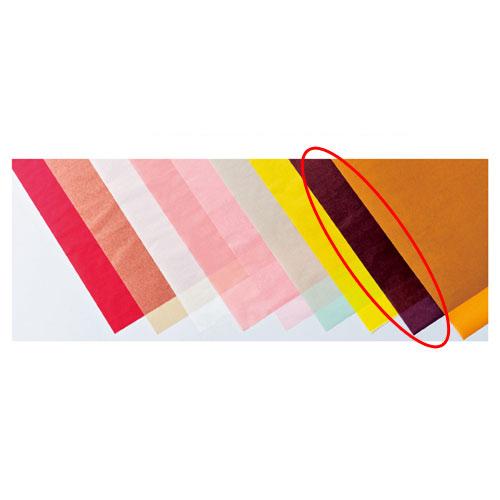 【まとめ買い10個セット品】 カラーワックスペーパー ボルドー 50枚【店舗備品 包装紙 ラッピング 袋 ディスプレー店舗】