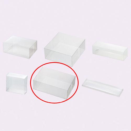 【まとめ買い10個セット品】 クリアボックス(ワンタッチ組立式) 18×12×6 10枚【店舗什器 パネル ディスプレー 小物 棚 店舗備品】