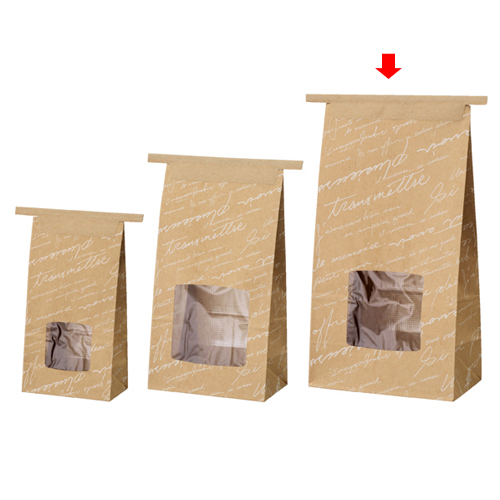 【まとめ買い10個セット品】 ワイヤーバッグ 窓付き 柄あり 15×9×28 50枚【店舗備品 包装紙 ラッピング 袋 ディスプレー店舗】