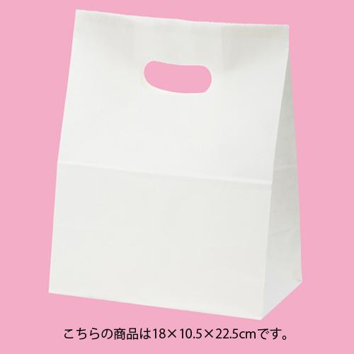 【まとめ買い10個セット品】 イーグリップ 白無地 18×10.5×22.5 500枚【店舗備品 包装紙 ラッピング 袋 ディスプレー店舗】