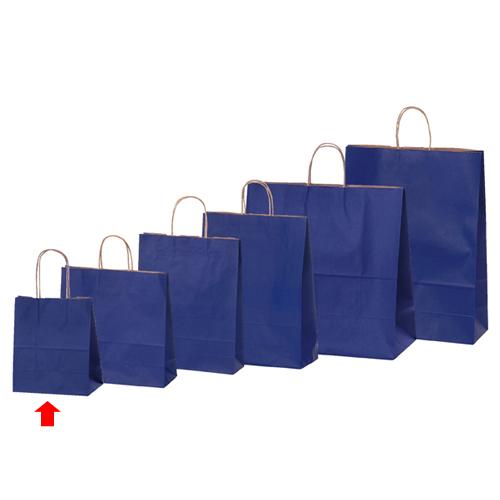 【まとめ買い10個セット品】 カラー手提げ紙袋 ネイビー 21×12×25 300枚【店舗備品 包装紙 ラッピング 袋 ディスプレー店舗】