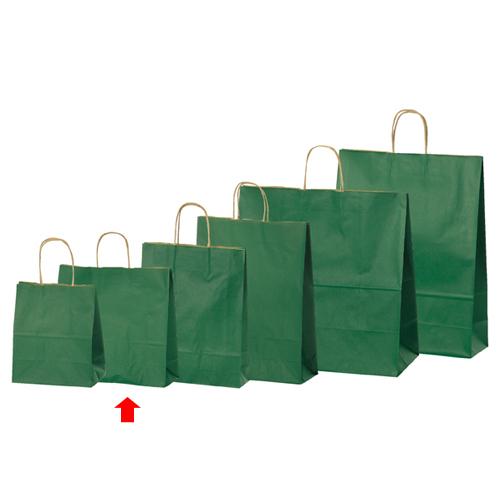 【まとめ買い10個セット品】 カラー手提げ紙袋 グリーン 32×11.5×31 50枚【店舗備品 包装紙 ラッピング 袋 ディスプレー店舗】