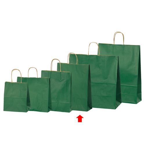 【まとめ買い10個セット品】 カラー手提げ紙袋 グリーン 32×11.5×41 50枚【店舗備品 包装紙 ラッピング 袋 ディスプレー店舗】
