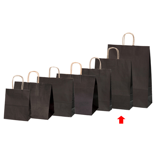 【まとめ買い10個セット品】 カラー手提げ紙袋 ブラウン 32×11.5×41 200枚【店舗備品 包装紙 ラッピング 袋 ディスプレー店舗】
