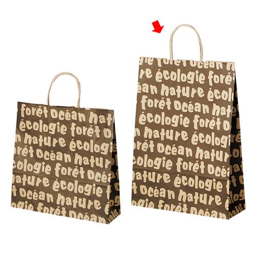 【まとめ買い10個セット品】 手提げ紙袋 フランス32×11×43cm50枚【ラッピング用品 包装 ラッピング袋 紙袋 ペーパーバッグ 手提げ 消耗品 かわいい 業務用 ギフト】