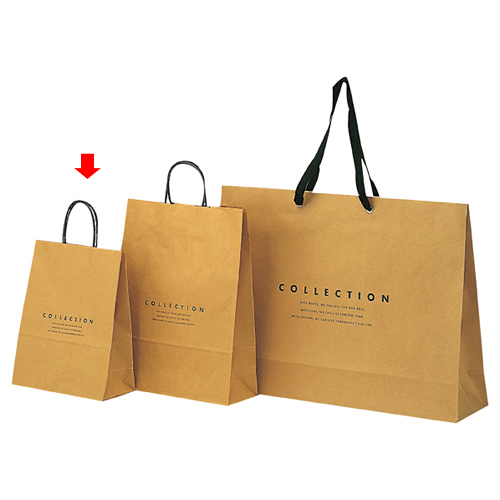 コレクション 26×10×31 400枚【店舗備品 包装紙 ラッピング 袋 ディスプレー店舗】