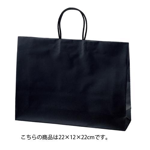【まとめ買い10個セット品】 マットバッグ ブラック 22×12×22 100枚【店舗備品 包装紙 ラッピング 袋 ディスプレー店舗】