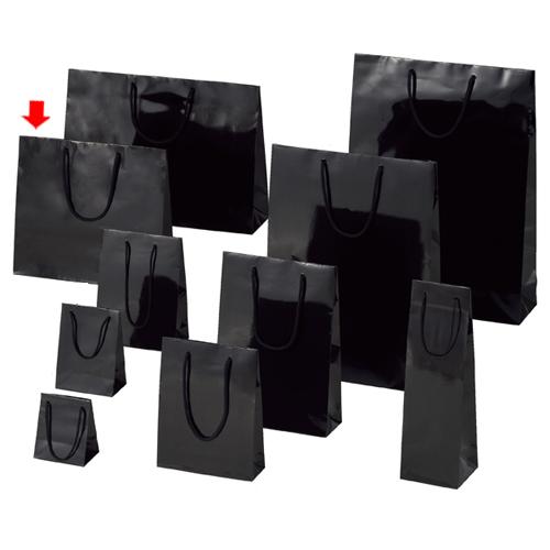 【まとめ買い10個セット品】 ブライトバッグ ブラック 33×10×30 150枚【店舗備品 包装紙 ラッピング 袋 ディスプレー店舗】