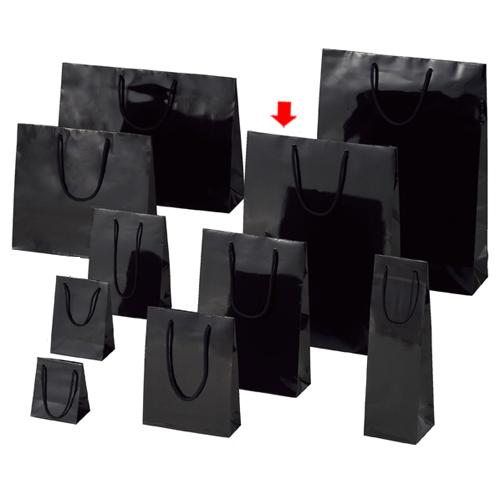 【まとめ買い10個セット品】 ブライトバッグ ブラック 33×10×45 150枚【店舗備品 包装紙 ラッピング 袋 ディスプレー店舗】