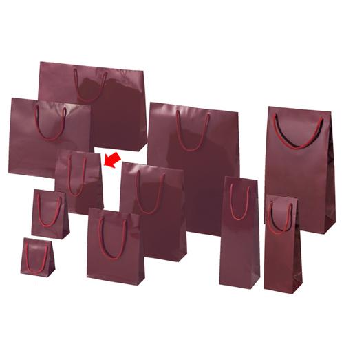 【まとめ買い10個セット品】 ブライトバッグ エンジ 17×8.5×23 50枚【店舗備品 包装紙 ラッピング 袋 ディスプレー店舗】