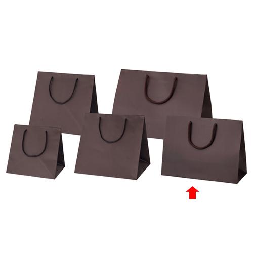 【まとめ買い10個セット品】 マット貼りブライトバッグ ブラウン 36×15×27 100枚【店舗備品 包装紙 ラッピング 袋 ディスプレー店舗】