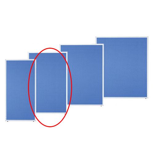 アルミパーティション 布張り フック連結タイプ ブルー H150×W90cm 【メーカー直送/代金引換決済不可】店舗什器 ディスプレー マネキン 装飾品 販促用品 ハンガー ラッピング