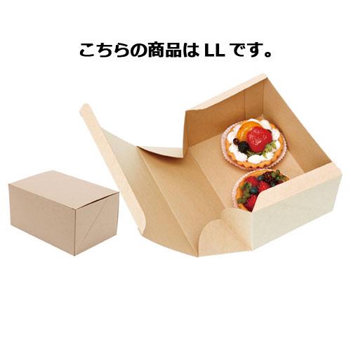 【まとめ買い10個セット品】ネオクラフトBOX ケーキBOX LL 20枚【 店舗備品 包装紙 ラッピング 袋 ディスプレー店舗 】