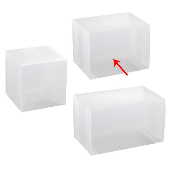 【まとめ買い10個セット品】 半透明ボックス 9×9×12cm 10枚 【メイチョー】