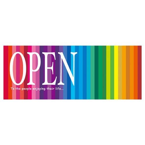 【まとめ買い10個セット品】 プリズム ポスター OPENパラポスター 10枚【販促用品 ポスター パネル 壁面 店舗備品】