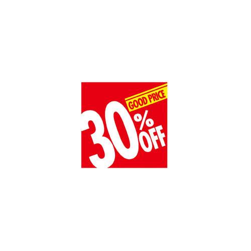 【まとめ買い10個セット品】 割引テーマポスター 30%OFF 10枚【販促用品 ポスター パネル 壁面 店舗備品】