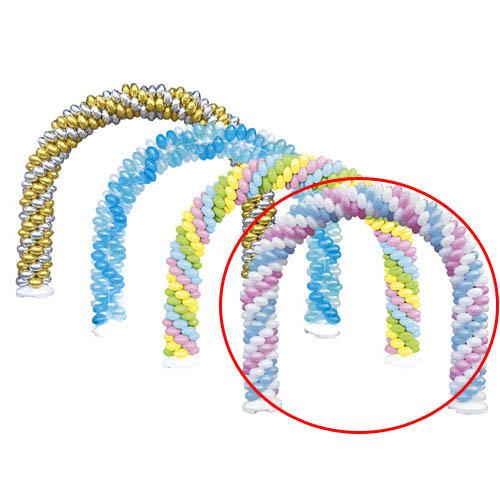 【まとめ買い10個セット品】 バルーンアーチセット 白×ピンク×ライトブルー【販促用品 ポスター POP ディスプレー 店舗備品】