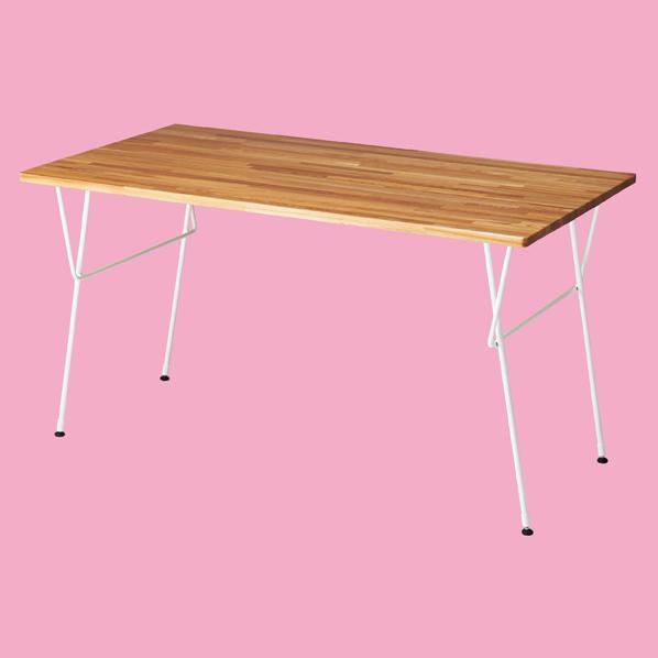 【まとめ買い10個セット品】 ナチュラルアイアン テーブル W150 ホワイト 【メイチョー】